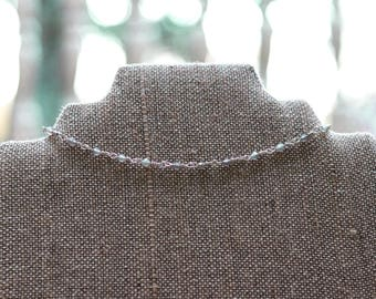 Lavender and Silver Choker