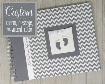 Pregnancy Journal | Gender Neutral | Pregnancy Gift | Pregnancy Book | Gray Chevron + Gray