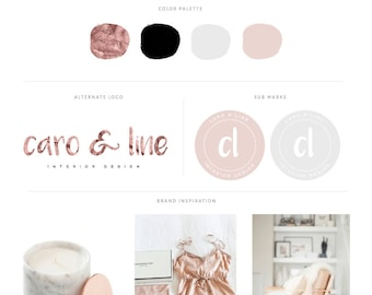 Rose Gold Geometric Logo Branding Kit