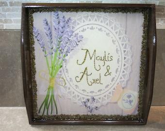"Personalised Lavender Tray, Handmade in Provence, ""La Maylis"""