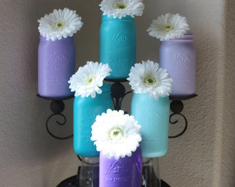 Wedding centerpiece vase  Blue and purple perfect for you peacock themed wedding event sweet 15 party adult birthday party