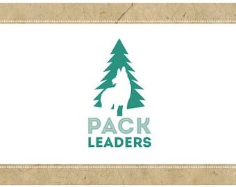 Custom Logo Design - PreDesigned Logo PreMade Logo - Vector Logo Design - OOAK Logo - PACK LEADERS Logo Design - Brand Design - Dog Logo