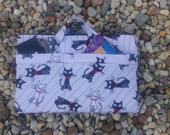 """15"""" cute cats laptop case with pockets"""