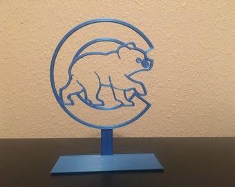 Chicago Cubs 3D Printed Cub Logo - Blue