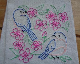 Song Birds Tea Towels