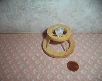 1:12 scale dollhouse miniature Oak walker