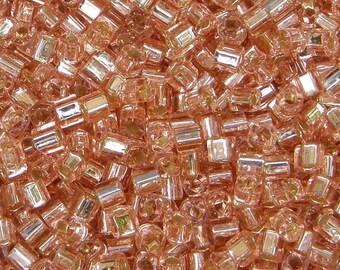 Toho 4mm Cube, Silver Lined Rosaline (31), 10 grams