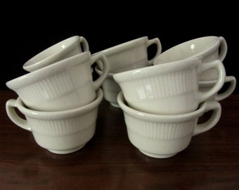Restaurant Ware Coffee Or Tea Cups By Syracuse China. Lot of Ten