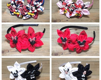 Minnie Mouse Headband Mickey Mouse Headband Disney Headbands Baby Headbands Headbands for girls Toddler Headbands Girls headbands Kanzashi