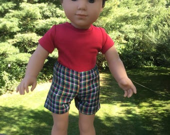 Shorts and Jacket  for 18 inch boy