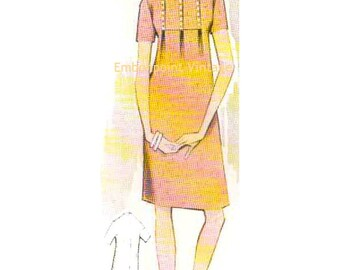 Plus Size (or any size) Vintage 1969 Maternity Dress Pattern - PDF - Pattern No 86 Lorie