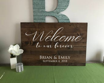 Wood Welcome Sign | Rustic wedding Sign | Wedding Welcome Sign | Welcome Sign | Custom Wedding Sign | Rustic Wedding Decor