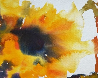 Sunflower/Watercolour sunflower