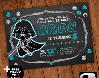 Star wars invitation etsy star wars invitation stopboris Images
