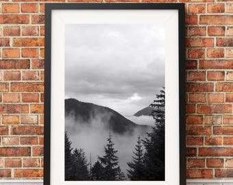 Hurricane Ridge, mountains, mountain scape, landscape, Pacific Northwest Mountains, Mountain Fir // FRAME NOT INCLUDED