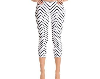 Chevron Capris - Women's Capri Leggings - Capri Pants - Chevron Pants - Leggings - Chevron Leggings - Women's Leggings - Fun pants  - print