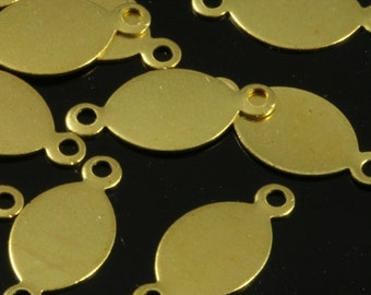 200 Pcs Raw Brass 16x7 mm   2 hole connector Charms ,Findings 104R-48