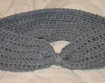 Crochet Gray headband ear warmer