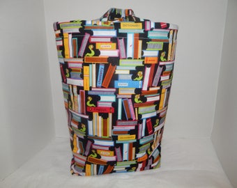 Library Bag with handles and quilted lining