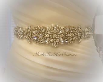 Wedding Dress Sash, Wedding belt, Wedding Sash, Rhinestone Pearl Sash Belt, Crystal Pearl Sash Belt,  Bridal Belt, Bridal Sash