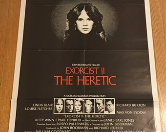 "Exorcist II - The Heretic (1977). US Original One Sheet Movie Poster. 27"" x 41"""