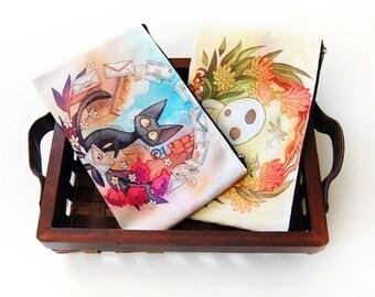 Jiji et Kodama Studio Ghibli hommage zip équipage