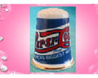 Pepsi Cola Advertising Thimble