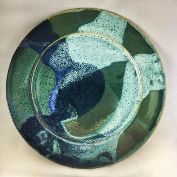Handmade Green and Blue Plate