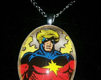 Marvel Avengers Captain Marvel Large Pendant