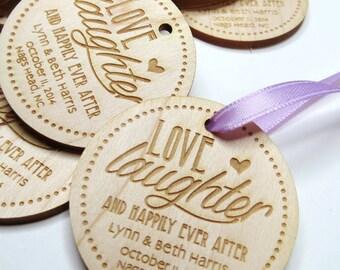 50 - 2 x 2 Custom Wood Tags - Custom Engraved Tags - Wood Gift Tags