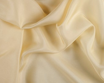 "45"" Wide 100% Silk Habotai Yellow-Wholesale by the Yard (2000M132)"