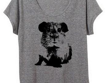 Guinea Pig Womens Slouchy Tee Shirt