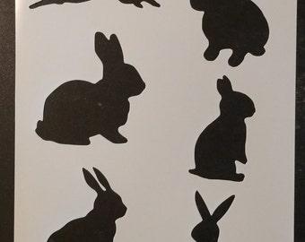 Bunny Rabbit Rabbits Custom Stencil FAST FREE SHIPPING