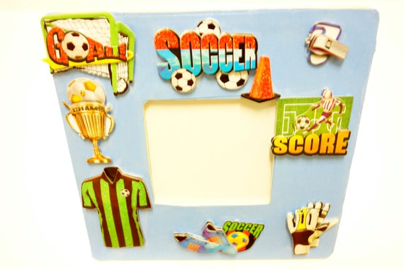 Soccer gifts, personalized sport frames, soccer themed wooden ...