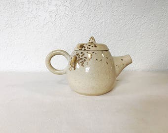 Handmade Ceramic Teapot with Gold Detail