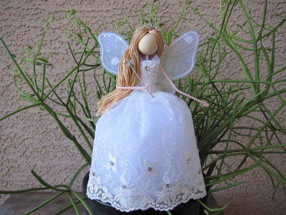 Christmas Fairy Tree Topper White Angel Tree Topper