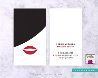 Faux gold foil monogram stripes business card fine artist make up artist hair stylist bangs red lips fashion designer stylist reheart Gallery