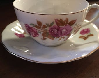 Vintage Teacup and Saucer, Occupied Japan tea cup and saucer, Gift for the collector