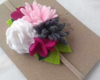 flower headband baby headband girls headband  fun hair accessories