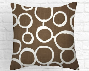 Pillows, Pillow Covers, Decorative Pillows, Cushion, Brown Pillow, Throw Pillow, brown and white. Pillow