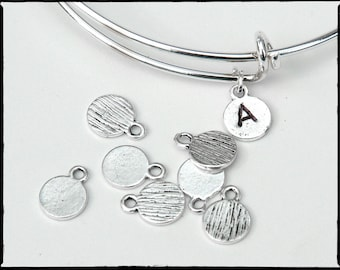 NEW Silver Stamping Blank. Silver tone. 8mm. Stamping tag, round. PERFECT! For hand-stamped jewelry, initial charms Blank tag. Qty 20 (CL-4)