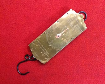 Antique Chatillions Brass Spring Balance Scale 30 lb Farmers Dairy Scale New York
