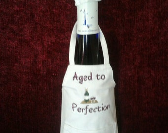 Wine Bottle Hat and Apron