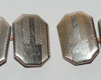 Art Deco Era Gold Filled Double Faced Cuff Links -- Free Shipping!