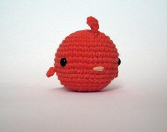 Red Fat Bird-Amigurumi Bird