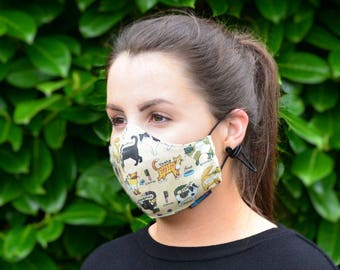 MASKERAID® Feline Friends Reusable Cotton Face Mask