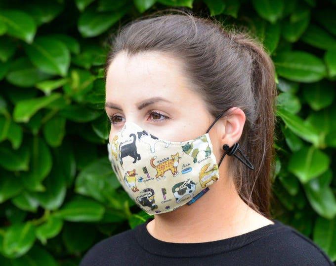 MASKERAID® Feline Friends Reusable Cotton Face Mask