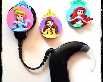 Cochlear Cuties:  Princesses!  Please select quantity 2 for a pair!