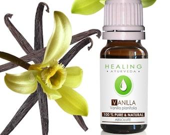 Vanilla-  True Vanilla absolute oil-Pure Vanilla oil- Vanilla planifolia- Sensual- Aromatherapy oil- Natural perfumery- absolute- Undiluted