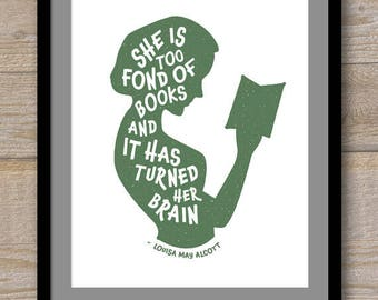 Digital File - She is Too Fond of Books - Louisa May Alcott - Work: A Story of Experience